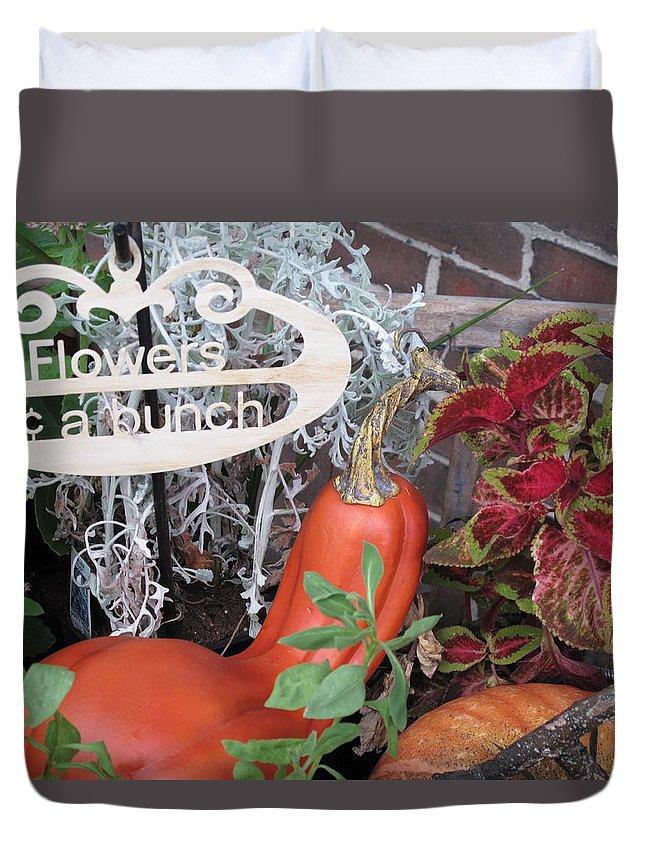 Squash Duvet Cover featuring the photograph Orange Squash by Barbara McDevitt