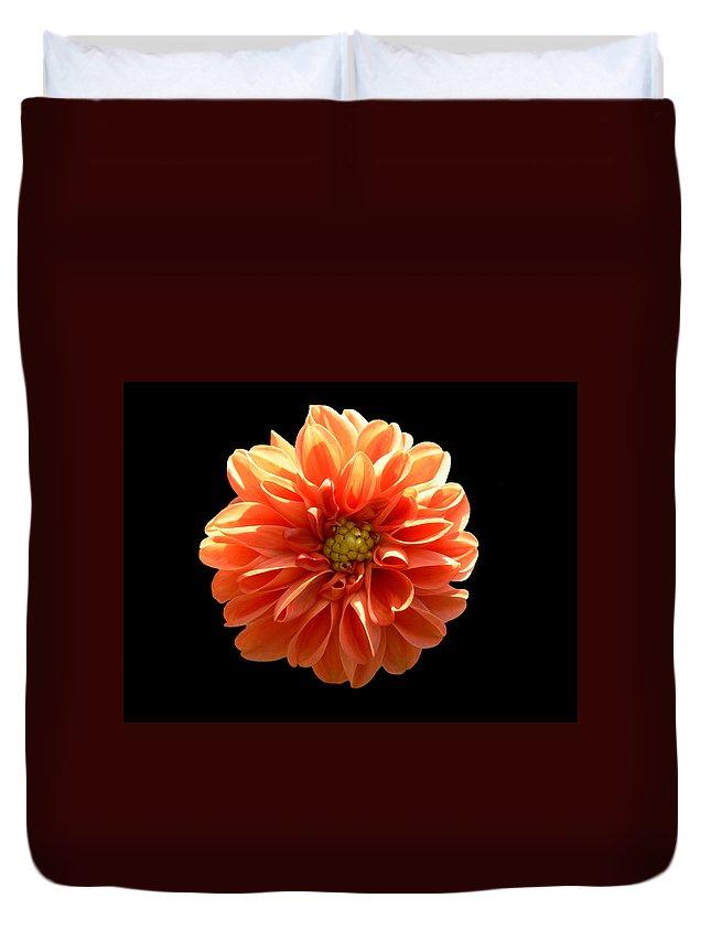 Dahlia Duvet Cover featuring the photograph Orangeman by Doug Norkum