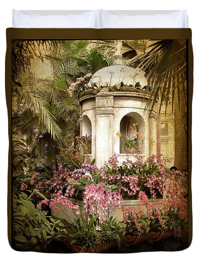 Flowers Duvet Cover featuring the photograph Orchid Exhibition by Jessica Jenney