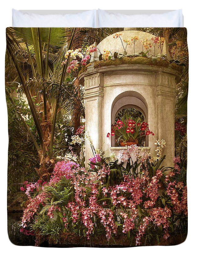 Flowers Duvet Cover featuring the photograph Orchid Show by Jessica Jenney
