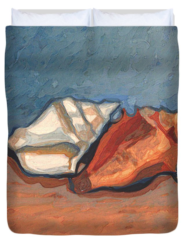 Duvet Cover featuring the painting Order N The Sand by Richard Glen Smith