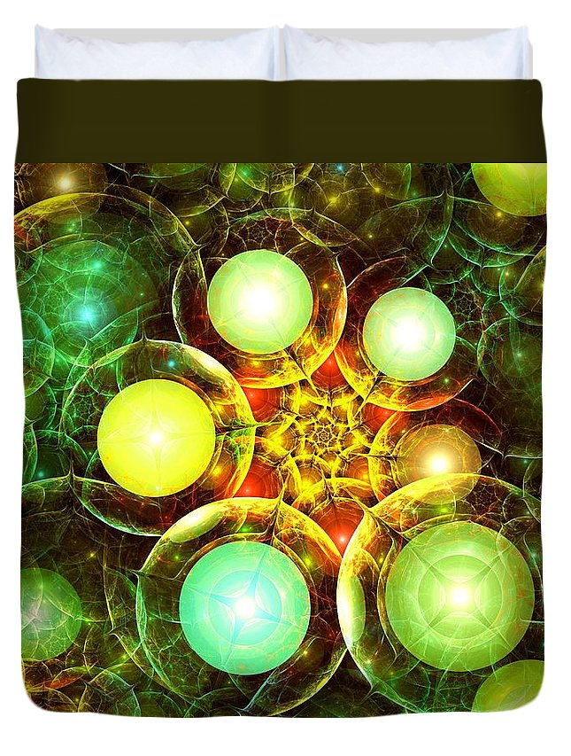 Malakhova Duvet Cover featuring the digital art Organic by Anastasiya Malakhova