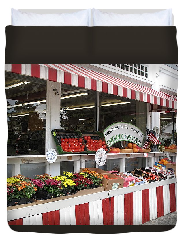 Produce Duvet Cover featuring the photograph Organic And Natural by Barbara McDevitt