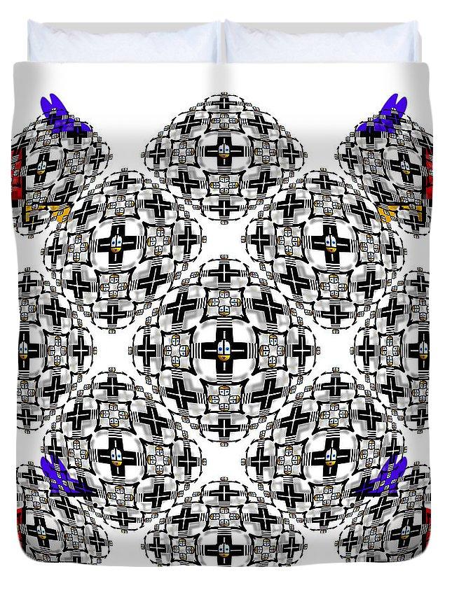 U Babe Duvet Cover featuring the digital art Orgasm by Charles Stuart