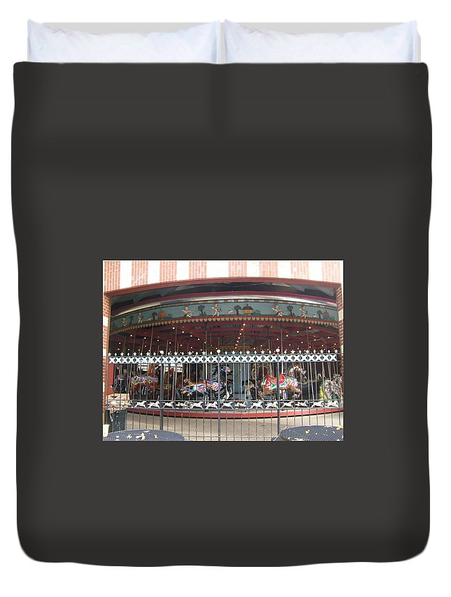 Wrought Iron Fence Duvet Cover featuring the photograph Ornamental Fence by Barbara McDevitt