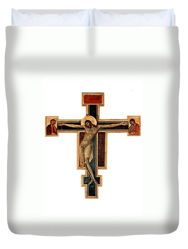 Orthodox Duvet Cover featuring the photograph Orthodox Cross by Munir Alawi