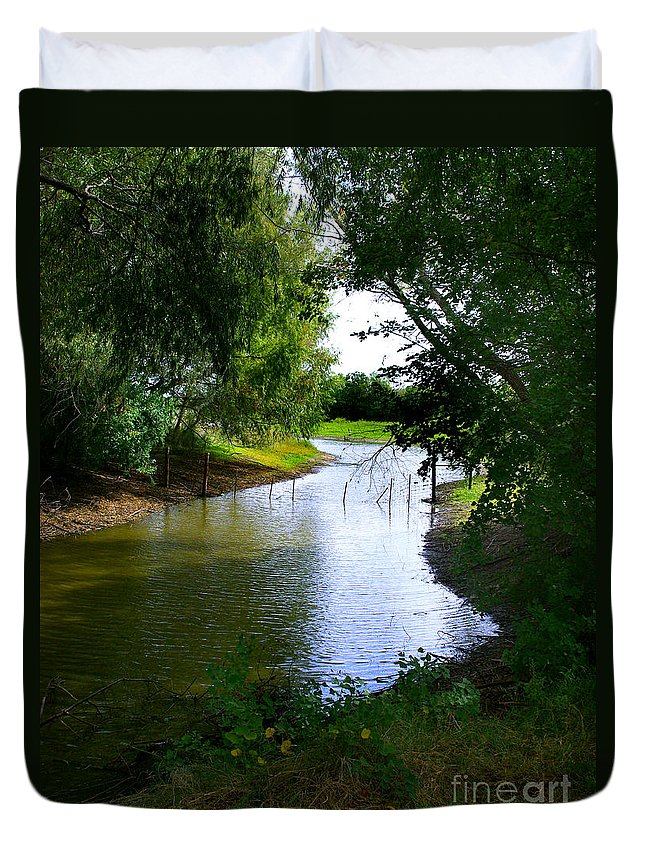 Angling Duvet Cover featuring the photograph Our Fishing Hole by Peter Piatt