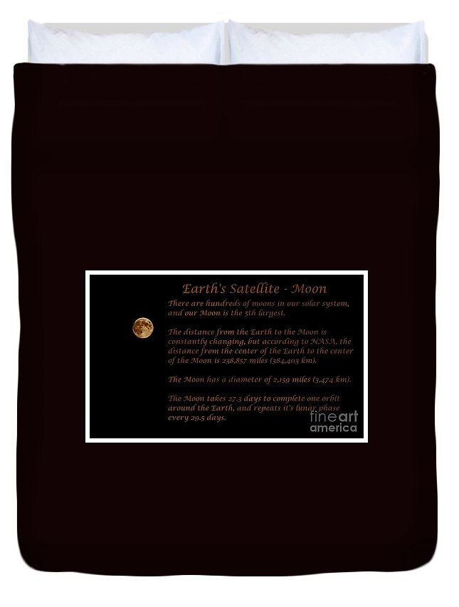Our Moon Duvet Cover featuring the photograph Our Moon by Barbara Griffin