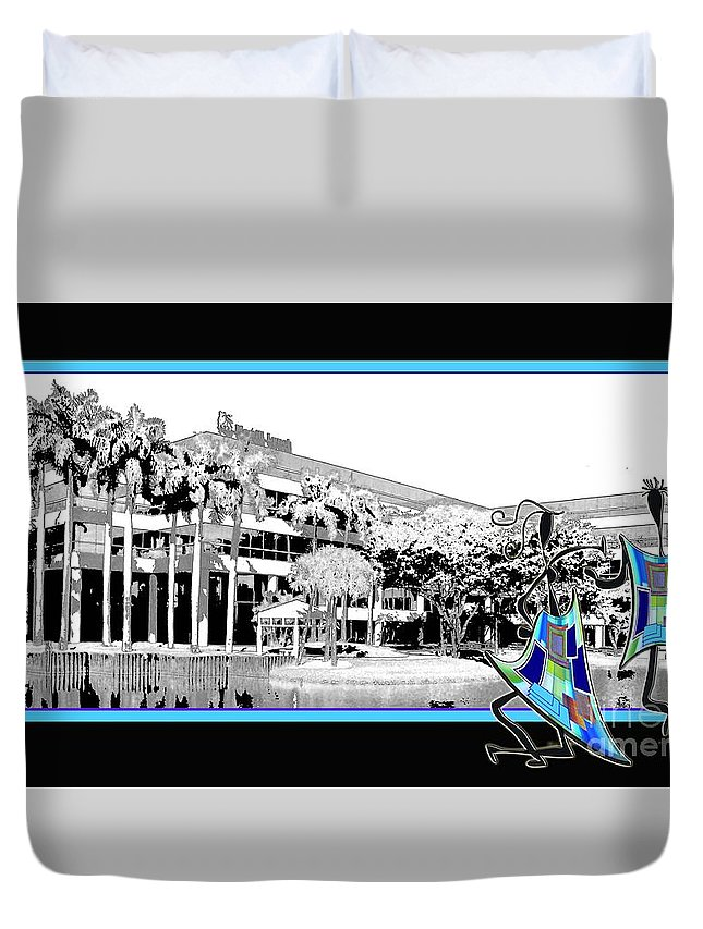 Office Duvet Cover featuring the photograph Out For A Stroll by Iris Gelbart