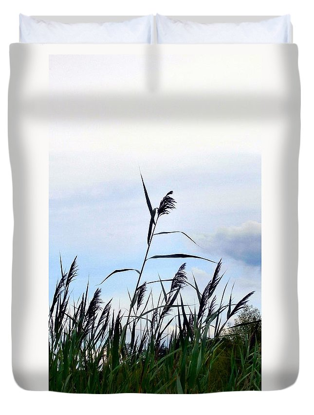 Wild Grass Duvet Cover featuring the photograph Out Here In The Field by T Cook