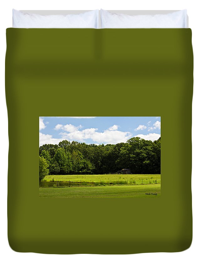 Shack Duvet Cover featuring the photograph Out In The Country by Nicole Tredup