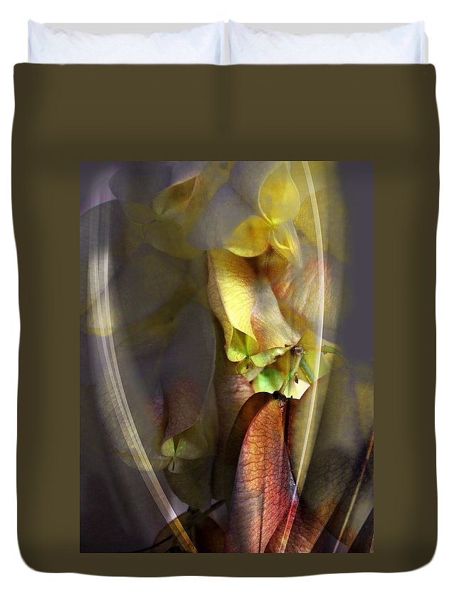 Flower Duvet Cover featuring the photograph Out Of The Mist by John Duplantis