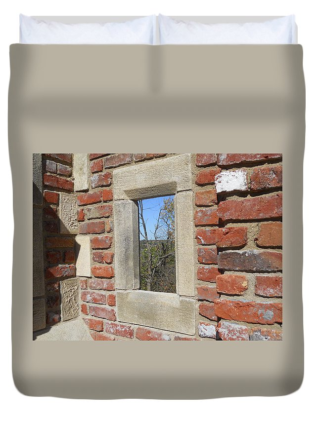 Buildings Duvet Cover featuring the photograph Outdoor Artwork by Coleen Harty