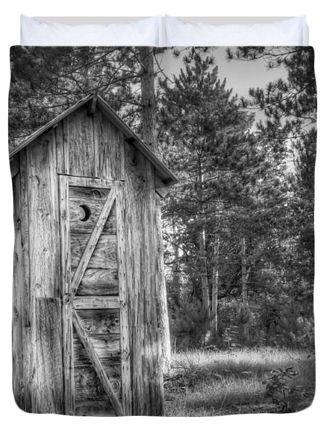 Outhouse Duvet Cover featuring the photograph Outdoor Plumbing by Scott Norris