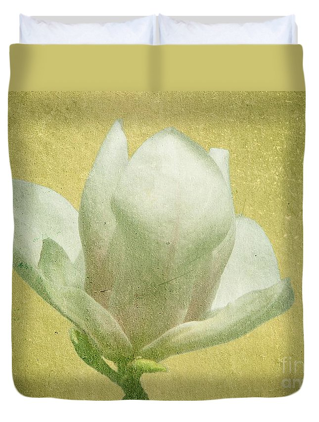 Bloom Duvet Cover featuring the photograph Outer Magnolia by Jeffrey Kolker