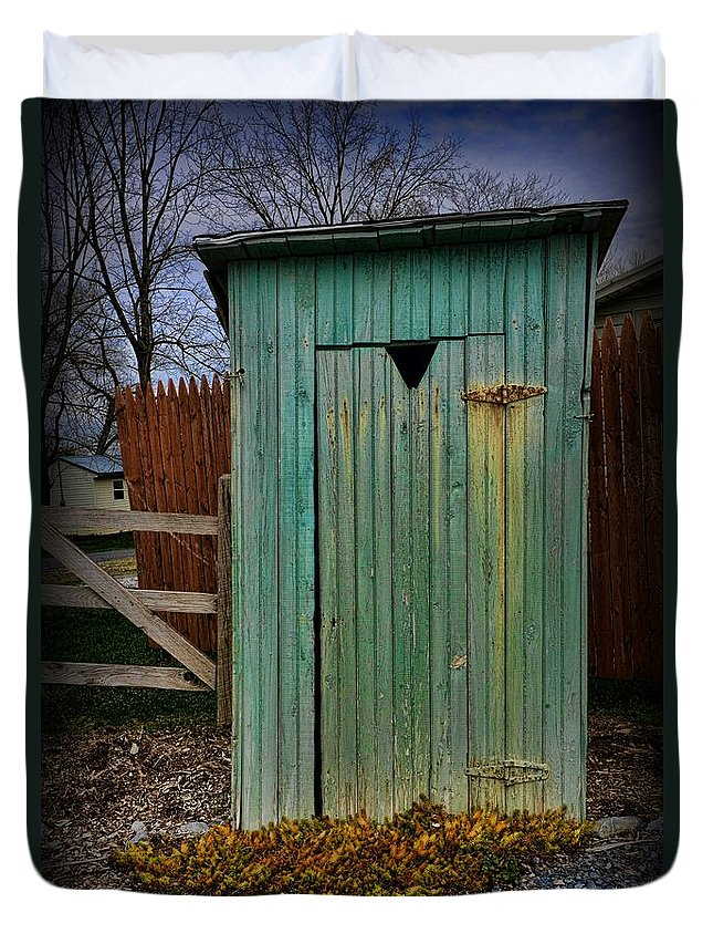 Outhouse Duvet Cover featuring the photograph Outhouse - 6 by Paul Ward