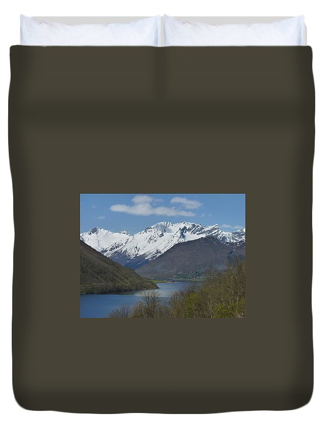 Duvet Cover featuring the photograph Over The Hjorundfjord by Katerina Naumenko