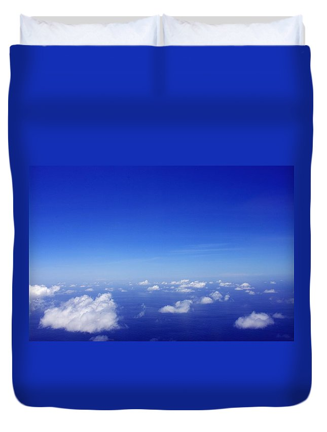 Ocean Duvet Cover featuring the photograph Over The Pacific by John Greaves