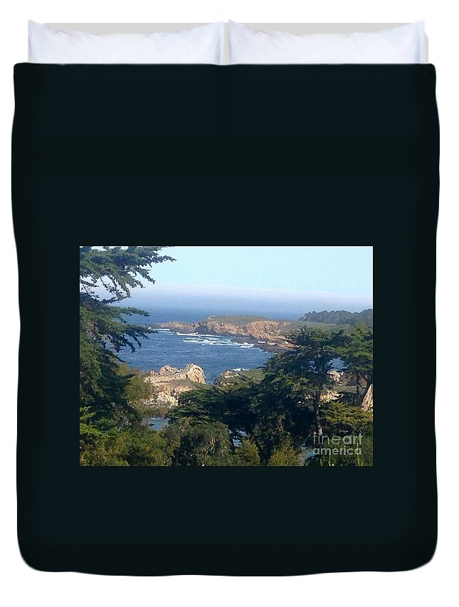 Carmel Duvet Cover featuring the photograph Overlooking Carmel Beach by Christy Gendalia