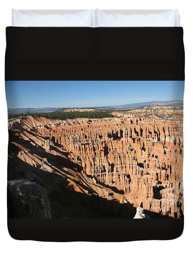 Mountians Duvet Cover featuring the photograph Overview At Bryce Canyon by Christiane Schulze Art And Photography