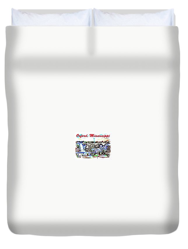 Oxford Mississippi 38655 Duvet Cover featuring the digital art Oxford Mississippi 38655 by Catherine Lott