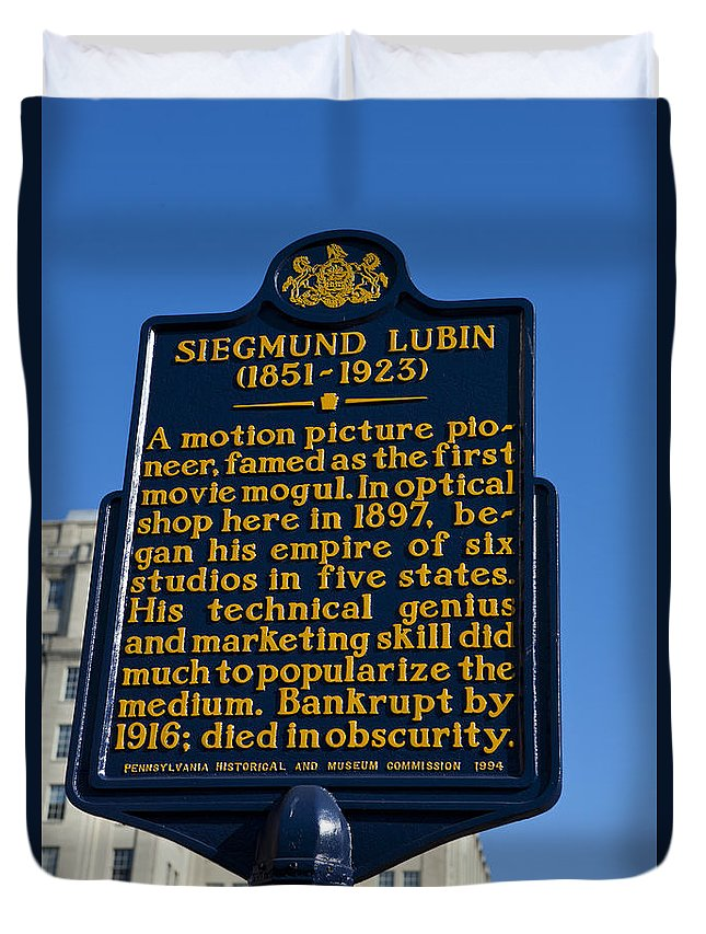 Sigmund Lubin Duvet Cover featuring the photograph Pa-133 Siegmund Lubin 1851-1923 by Jason O Watson