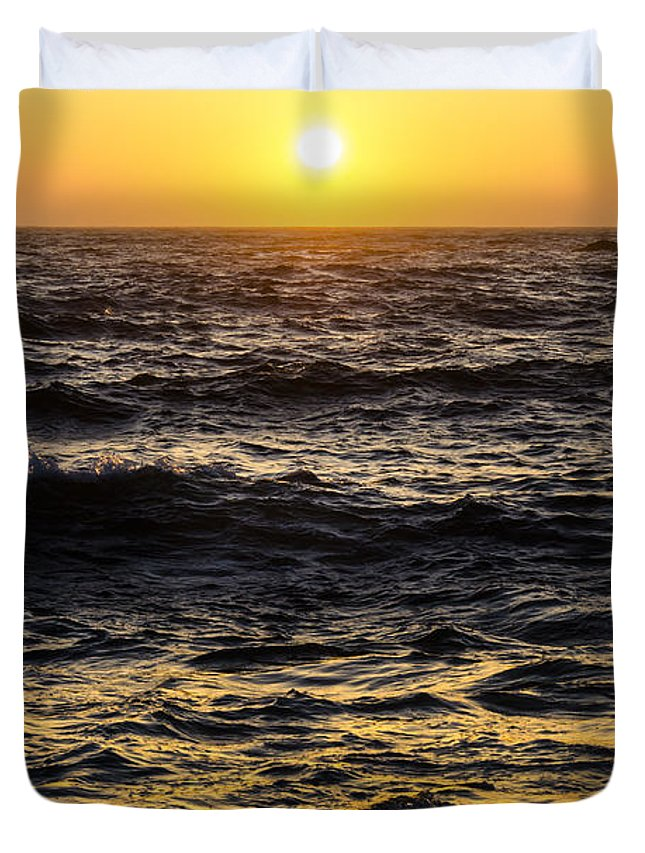 Cml Brown Duvet Cover featuring the photograph Pacific Reflection by CML Brown