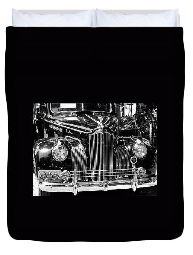 Love Duvet Cover featuring the photograph Packard Motor Car by Mara Lee