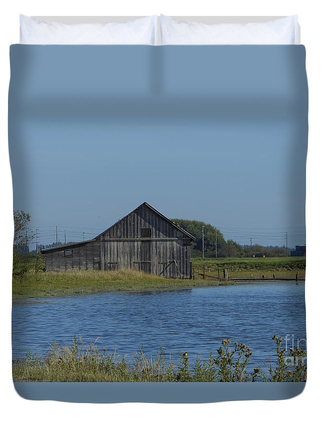 Barn Duvet Cover featuring the photograph Padilla Bay by Louise Magno