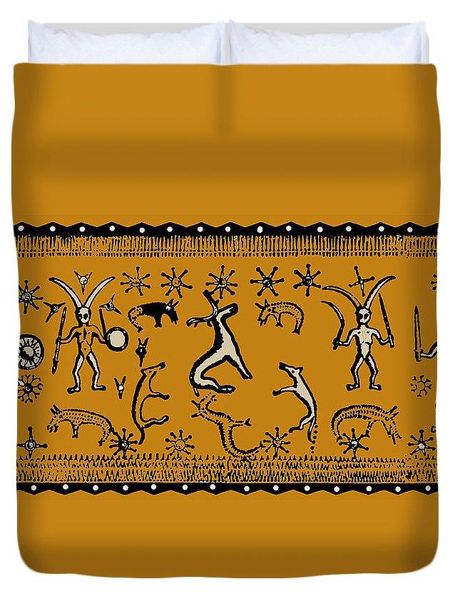 Pagan Duvet Cover featuring the digital art Pagan Rituals by Vagabond Folk Art - Virginia Vivier