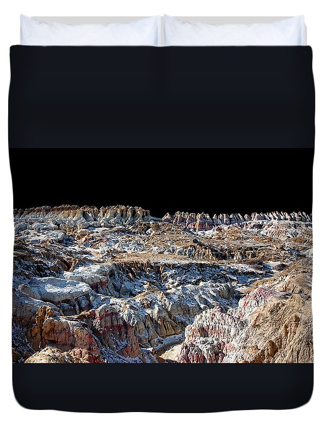 Dan Sabin Duvet Cover featuring the photograph Paint Mines Iv-a Time Of Division by Dan Sabin