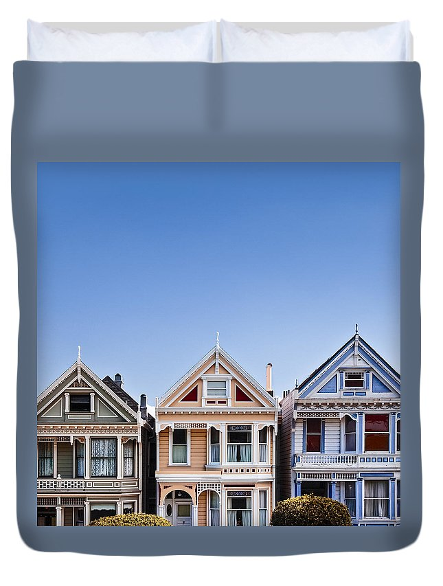 Painted Ladies Duvet Cover featuring the photograph Painted Ladies by Dave Bowman