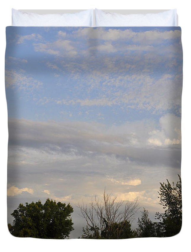 Landscape Duvet Cover featuring the photograph Painted Landscape by Verana Stark