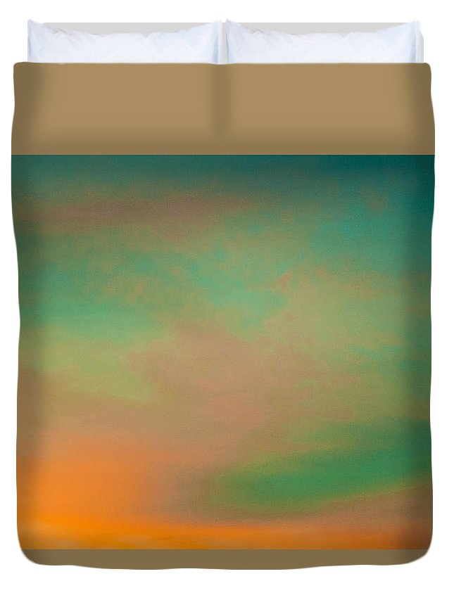 Abstract Duvet Cover featuring the digital art Painted Skies by Ben and Raisa Gertsberg