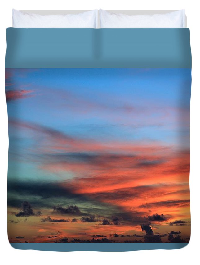 Sunset Duvet Cover featuring the photograph Painted Sky by Kimberly Reeves