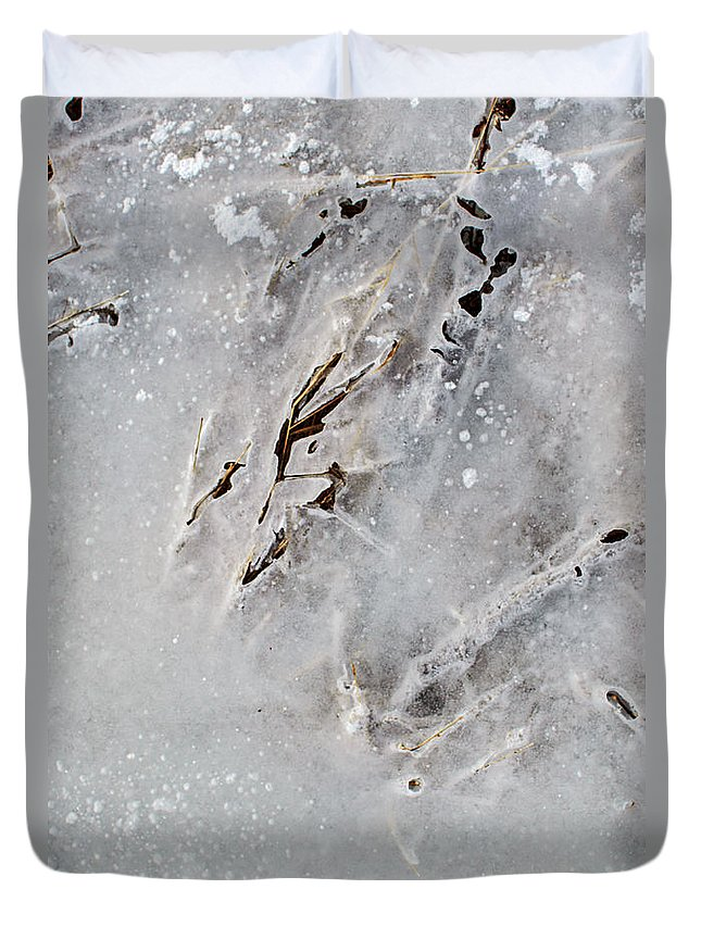 Natural Abstract Duvet Cover featuring the photograph Painting On Ice by Susan Capuano