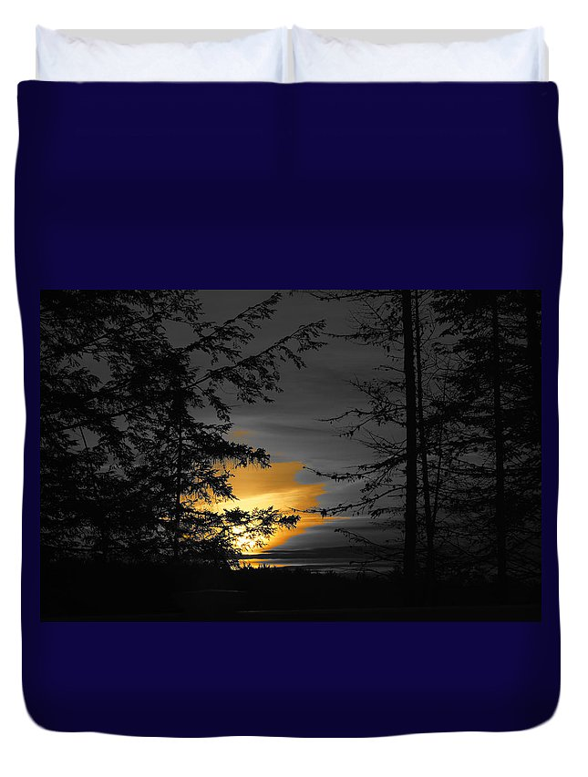 Nh Duvet Cover featuring the photograph Painting The Sky by Mary Vinagro