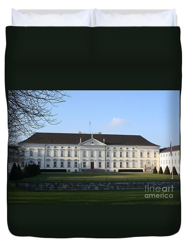 Palace Duvet Cover featuring the photograph Palace Bellevue - Berlin by Christiane Schulze Art And Photography