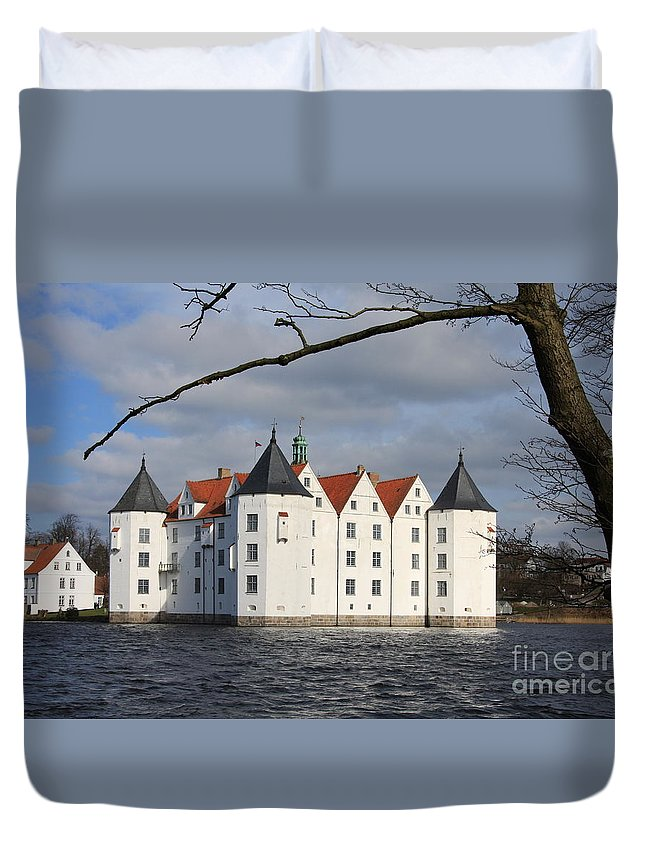 Palace Duvet Cover featuring the photograph Palace Gluecksburg - Germany by Christiane Schulze Art And Photography