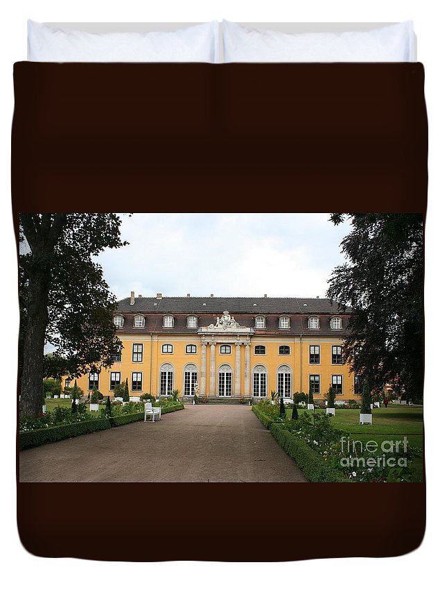 Palace Duvet Cover featuring the photograph Palace Mosigkau - Germany by Christiane Schulze Art And Photography