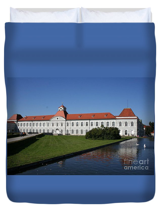 Palace Duvet Cover featuring the photograph Palace Nymphenburg - Germany by Christiane Schulze Art And Photography
