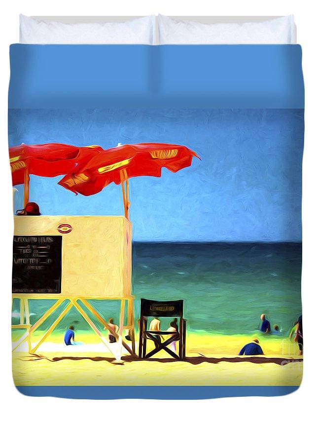 Palm Beach Duvet Cover featuring the photograph Palm Beach Sydney by Sheila Smart Fine Art Photography