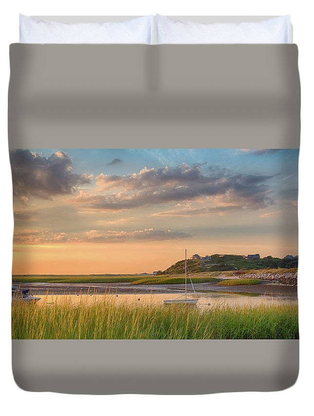 Scenics Duvet Cover featuring the photograph Pamet Harbor In Afternoon by Betty Wiley