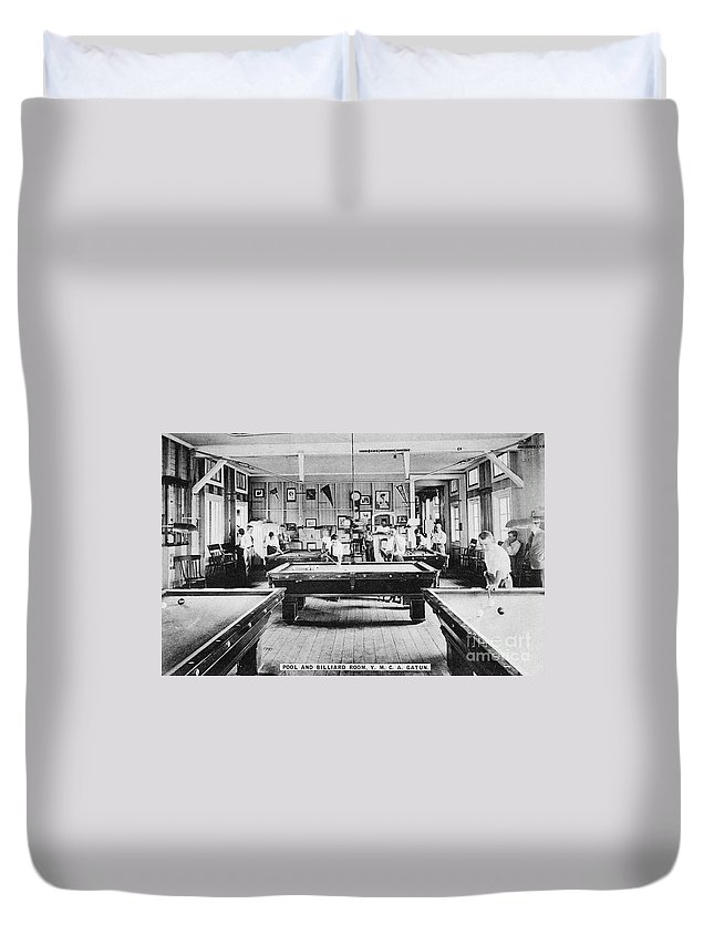1910 Duvet Cover featuring the photograph Panama Ymca C1910 by Granger