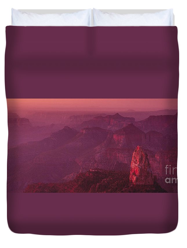 Landscape Duvet Cover featuring the photograph Panorama Pre-dawn At Point Imperial Grand Canyon National Park by Dave Welling
