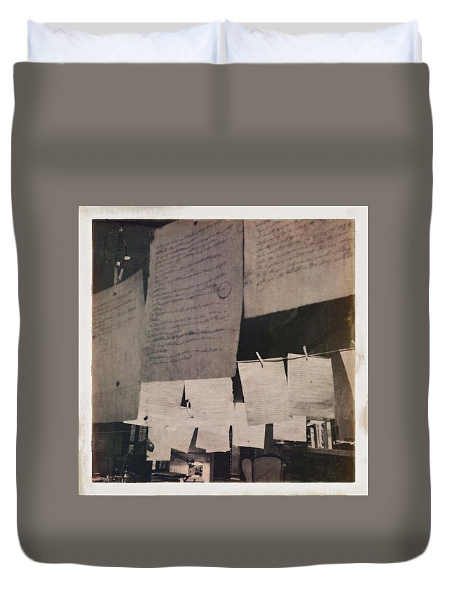 Love Duvet Cover featuring the photograph Papers 2 by H James Hoff