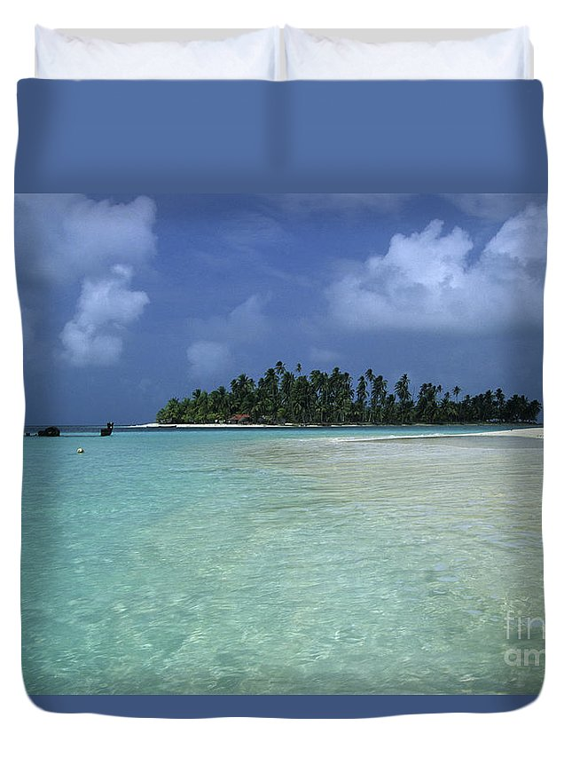 Panama Duvet Cover featuring the photograph Paradise Island 1 by James Brunker