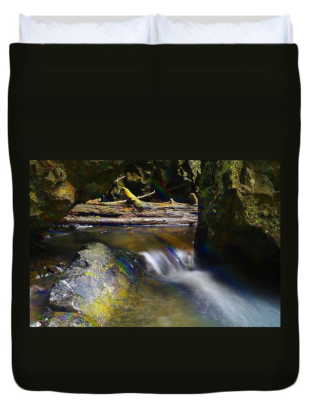 Water Duvet Cover featuring the photograph Paradise Whispers by Jeff Swan