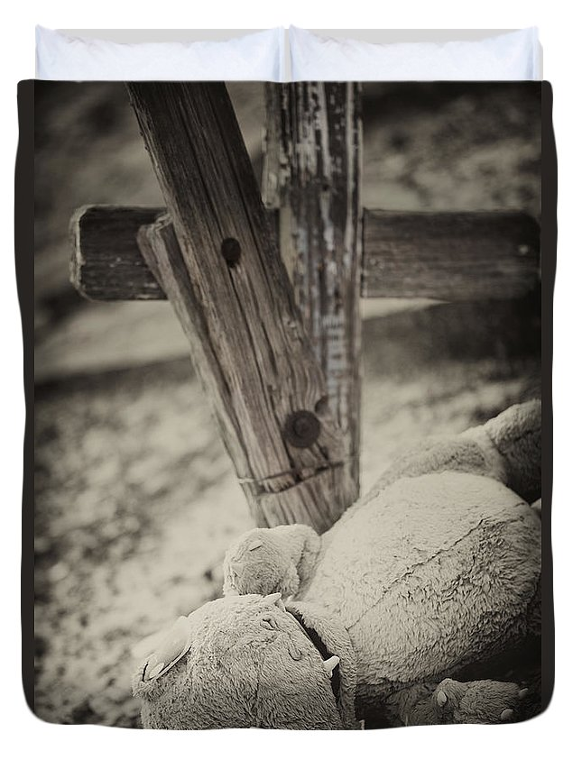 Old Cemetery Relics Duvet Cover featuring the photograph Parched by Erika Weber