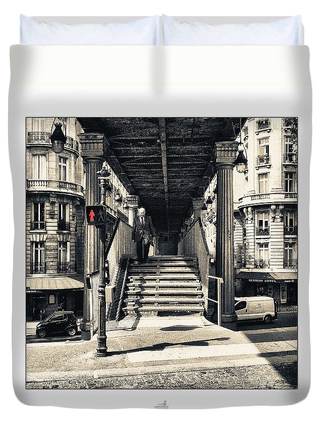 Alter Man Duvet Cover featuring the photograph Paris - Old Man by ARTSHOT - Photographic Art